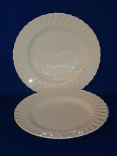 SHEFFIELD CHINA USA BONE WHITE PAIR DINNER PLATES 10 1/4""