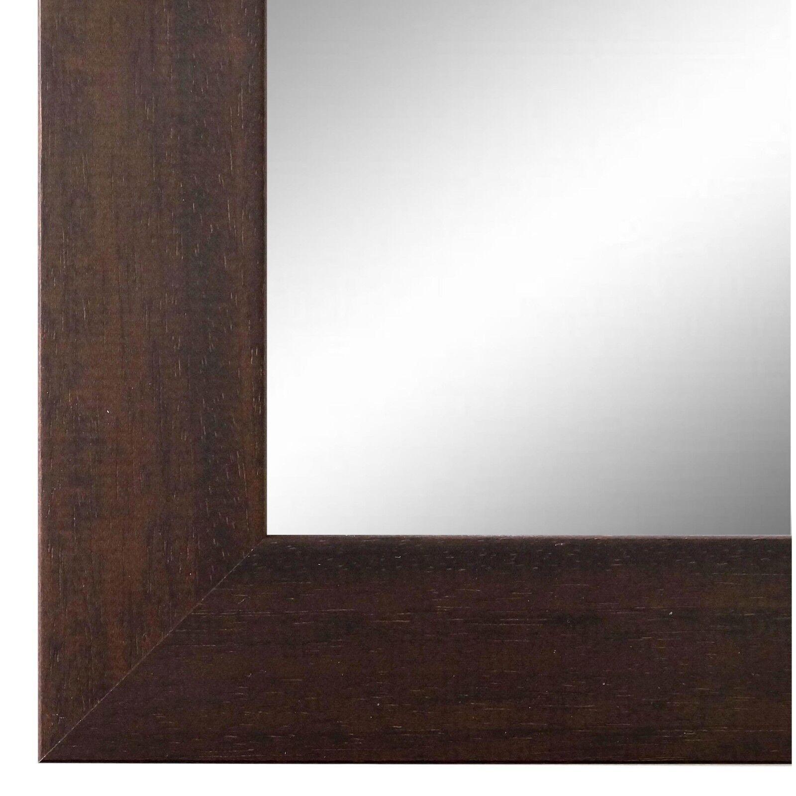 Wandspiegel Spiegel dunkel Braun Modern Retro Holz Florenz 4,0 - NEU alle Größen