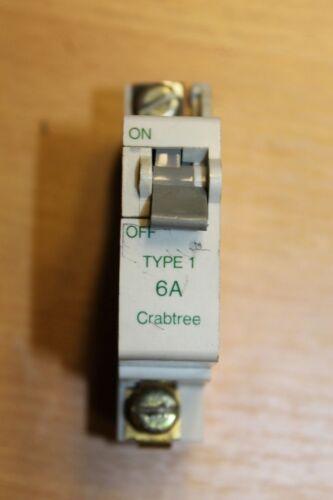 Crabtree Starbreaker SB6000 Single pole MCB Type 1 5A 6A 15A 16A 32A 40A D2