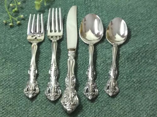 """Nice! Oneida """"MICHELANGELO"""" Heirloom Cube Stainless Steel 5 pc Place Setting"""
