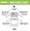For 06-2010 Jeep Commander Tan Bolt Front or Rear Left Inside Inner Door Handle