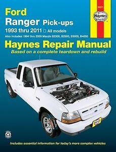 haynes automotive repair manual ford courer ranger 1993 2011 mazda rh ebay com au Mazda Rotary Engine Problems B-Series Truck