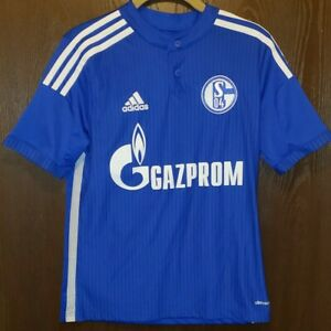 Details about Adidas Blue FC SCHALKE 04 German Soccer Jersey Youth Large 14-16 STITCHED