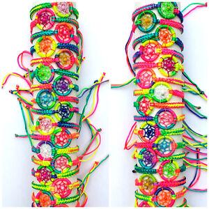 79f9befe2e125 Details about Dream Catcher Bracelet Wristband ~ Neon Rainbow friendship  Men Women Male Female