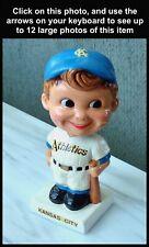Nice! 1960's Vintage KANSAS CITY ATHLETICS Baseball BOBBLEHEAD Nodder MLB No Res
