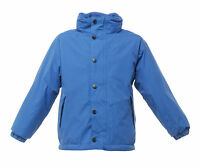 REGATTA KIDS TERM TIME WATERPROOF REVERSIBLE ROYAL BLUE JACKET TRA900