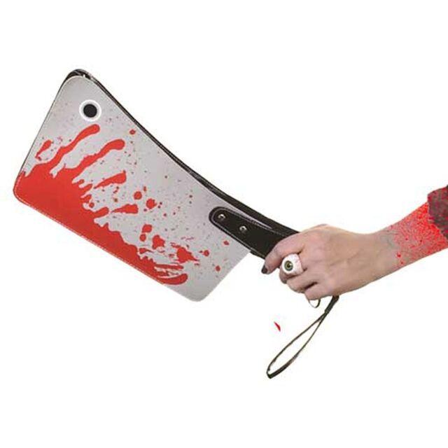 KREEPSVILLE 666 BLOODY CLEAVER KNIFE CLUTCH BAG PURSE PUNK HORROR HALLOWEEN GOTH