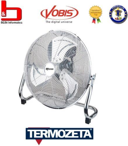 Bassotto Ventilatore pale da 40 cm acciaio cromato 90W 3 velocità Termozeta mod