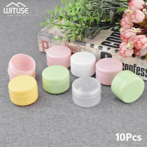 100g-50g-20g-Sample-Bottle-Cosmetic-Jar-Makeup-Cream-Lip-Balm-Containers-10Pcs