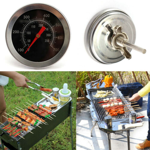 1PC*BBQ Pit Smoker Grill Thermometer Gge Temp Outdoor CL Barb J4X5 F8A7 Hoo Z0Q3