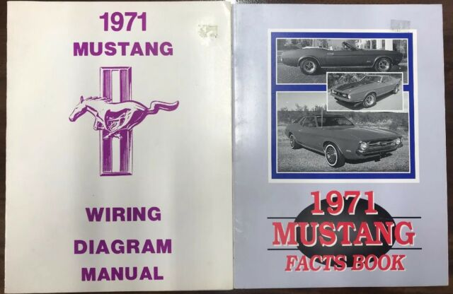 1971 Ford Mustang Wiring Diagram Manual For Sale Online