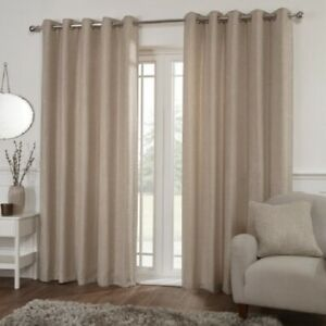 Cushion Covers MIAMI Eyelet Ring Top OATMEAL Beige Woven Curtains,Door Curtains