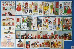31-Art-Postcards-by-Rosalind-Wicks-Teddy-Bears-Post-Boxes-AU7