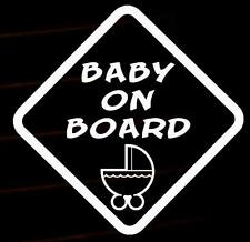 Baby on Board pram pushchair decal car van window sticker many colours VW jdm