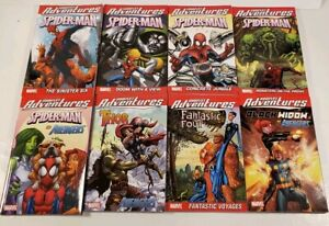Lot Of 8 Marvel Comics Marvel Adventures Paperback Graphic Novels