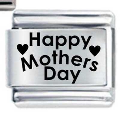 Happy Mothers Day Heart   Mum Family   Daisy Charm Fits Nomination Classic  Size fdd04a0e8