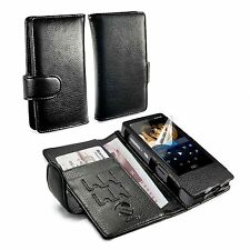 Tuff-Luv Wallet style Faux Leather Case Cover for FiiO X7 - MP3 - Black