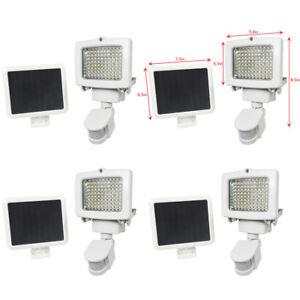 4 PACK 80 SMD LEDs Outdoor Solar Motion Sensor Security Flood Light Spot 80 100
