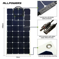 100w 18v Flexible Solar Panel Battery Power Mono Charger Kit Rv Boat Generator