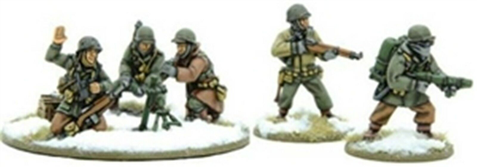NEW BOLT ACTION MINIATURE US ARMY FLAME & LT MORTAR WINTER WARS GAMES WGB-WAI-24
