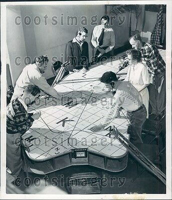 1953 Physically Handicapped Workers Air Raid Workers Oakland CA Press Photo