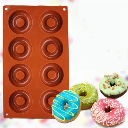 Baking Silicone Donut Doughnut Cake Chocolate Soap Candy Jelly Mold Mould Pan S