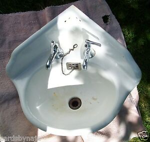 Vintage Antique Metal Farmers Corner Sink Good Used Cond. Pick Up Only ...
