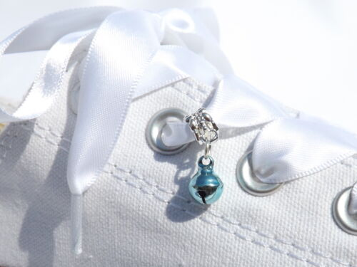 Cute Royal blue Bell Trainer//Shoe Charm to Slide on Your Shoelaces Trainer laces