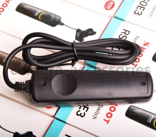 Interruptor Disparador Remoto Cable de control RS-60E3 para Canon EOS 90D 80D 77D