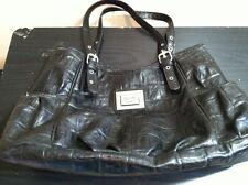 Nicole Miller Brand Women's Black Faux Leather Handbag