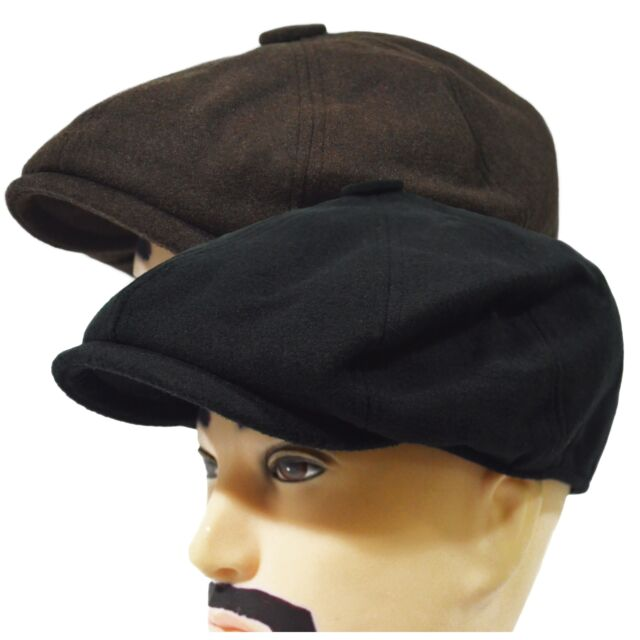 Solid Wool Blend Newsboy Applejack 8Panel Paperboy Cabbie Driving Gatsby Hat Cap