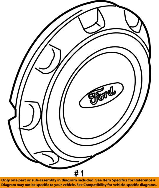 Ford Oem 04 14 F 150 Wheel Hub Cap 4l3z1130ea For Sale Online