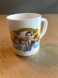 Arcopal France Milk Glass MugTo Commemerate The Marriage of Prince Charles /& Lady Diana 29 July 1981Royal SouvenirCollectableVintage1981