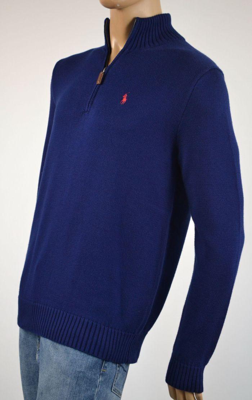 Polo Ralph Lauren Blau 1 2 Half Zip schweißer NWT