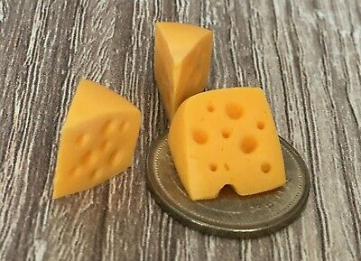 Doll House Dollhouse Miniature 2 Swiss Cheese Slices