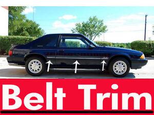 Ford MUSTANG CHROME SIDE BELT TRIM DOOR MOLDING 1999 2000 2001 2002 2003 2004