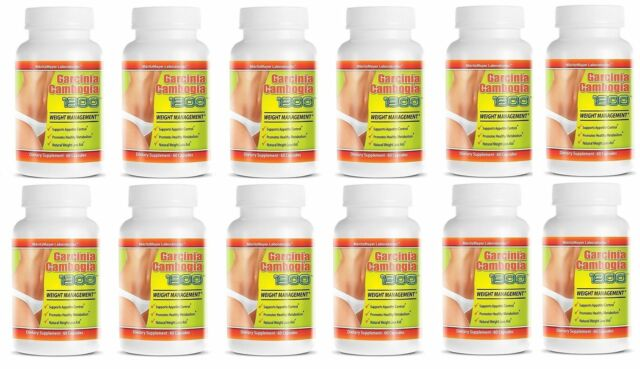 Garcinia Cambogia Extract 1300 Weight Management Contains 60 Hca 12 Bottles