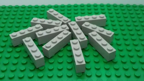 11 x VINTAGE OLD LIGHT GREY 1x4 BRICKS 3010 CASTLE SPACE TOWN GARAGE LEGO