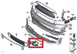 Mini New Genuine jcw GP2 R56 pare-chocs avant frein Conduit D/'Air Scoop Grill Gauche N//S