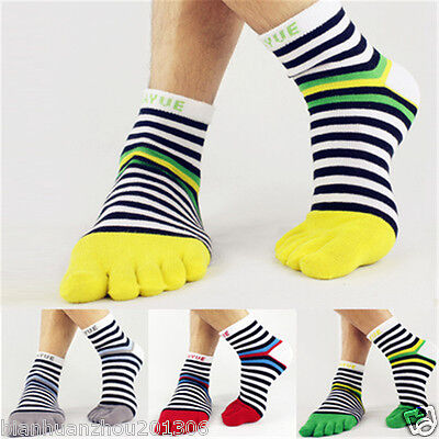 2 pairs new five finger toe socks men sports socks random color