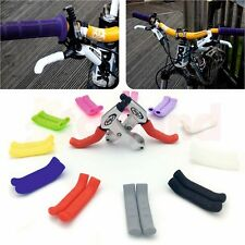 PAIR of COLOURED BRAKE LEVER GRIPS PROTECTORS COVERS MOUNTAIN BIKE MTB BMX FIXIE