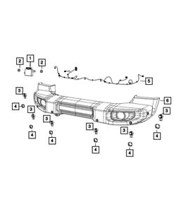 Genuine MOPAR Front Fascia Wiring 68336460AD