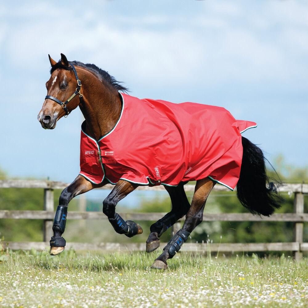Horseware Horseware Horseware Amigo Hero ACY Turnout  200g Medium - rot Weiß Grün schwarz 27109b