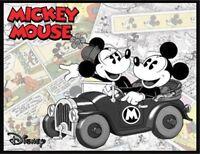 Mickey Mouse Fridge Magnet. 4x5. Minnie. Old Car. Disney Comic Logo....free Ship
