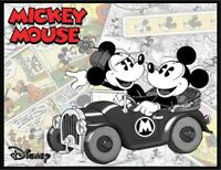 Mickey Mouse Fridge Magnet. 4x5. Minnie. Old Car. Disney Comic Logo....free Ship