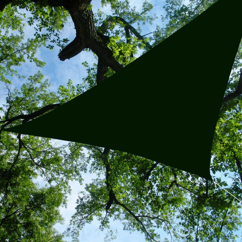 Triangle  Sun Shade Sail 16.5' foot Shading Canopy Green Waterproof  designer online