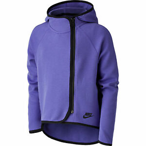 a7a9d998b72f Details about 669804-553 New with tag Girl NIKE Tech Fleece cape full zip hoodie  jacket PURPLE