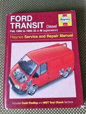FORD TRANSIT MK3 DIESEL HAYNES WORKSHOP MANUAL 1986 - 95  (C to N Reg)