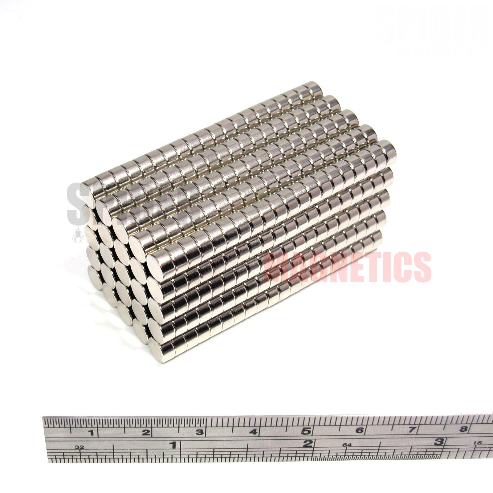 500 Magnets Magnets Magnets 6x3 mm Neodymium Disc small round magnet 6mm dia x 3mm craft fridge 3ed75d