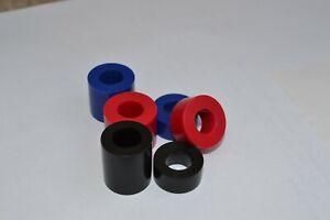 Black Nylon Spacers Standoff Collar, M3-M4-M5-M6-M8-M10-M12 PACK OF 12